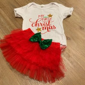 My 1st Christmas Onesie & Matching Bloomers